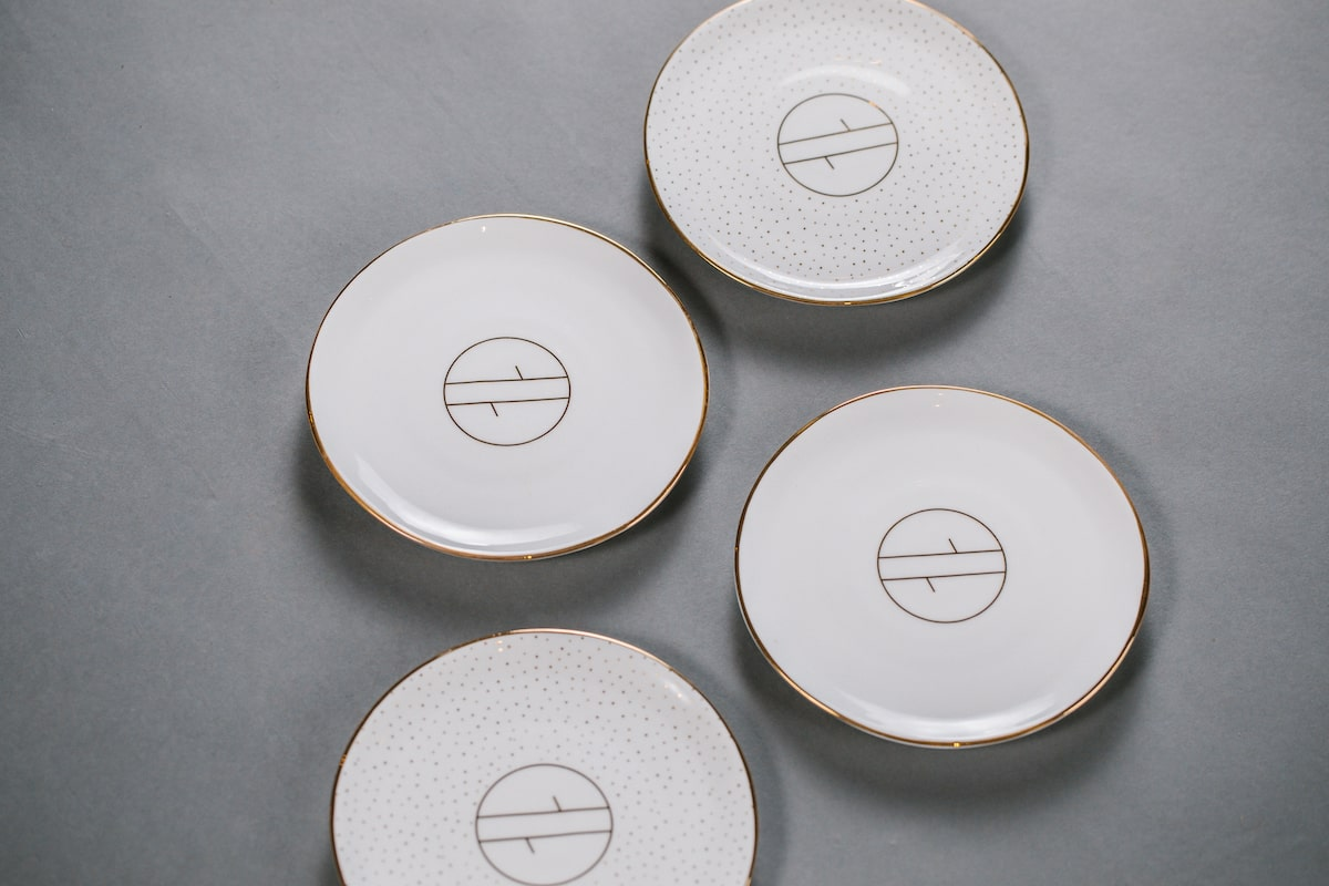 Bone China Plate Handmade by Emma Alington for AUTHOR: the home of British-made luxury homeware