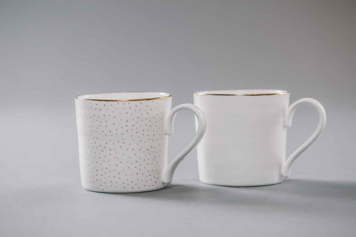 Bone China Tea Mug Handmade by Emma Alington for AUTHOR: the home of British-made luxury homeware