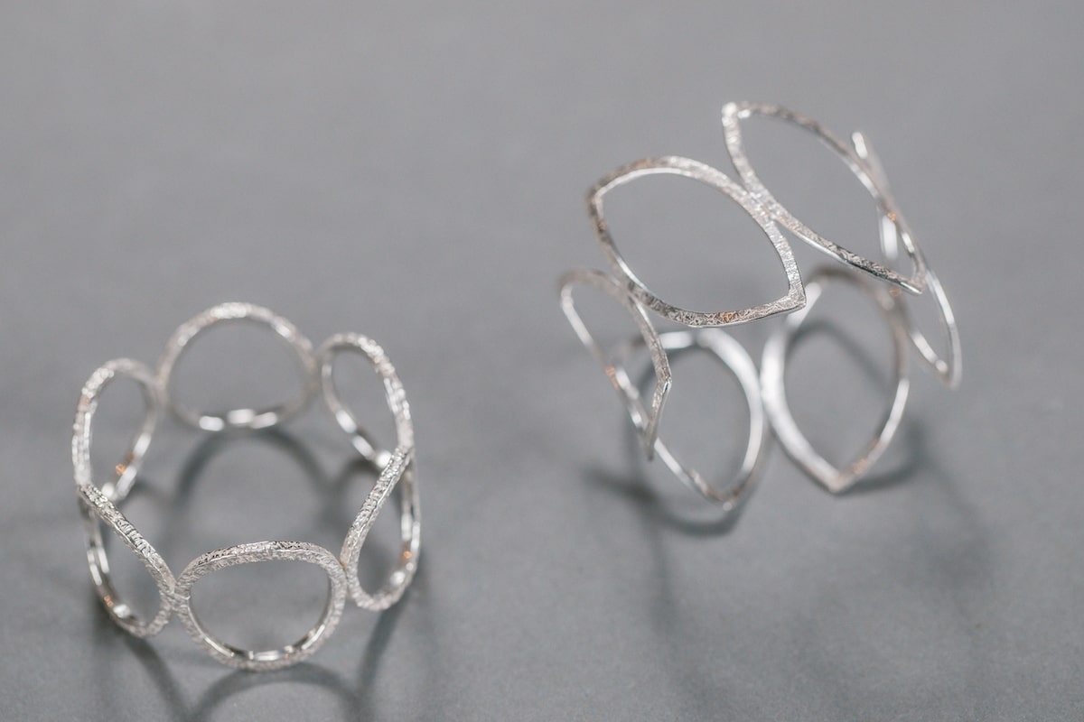 Sterling Silver Napkin Rings by Sarah Cave for AUTHOR: home of British-made luxury homeware