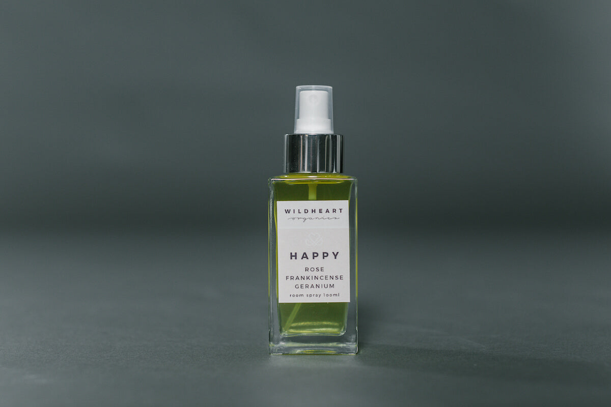 Essential Oil Happy Room Spray by Wildheart Organics for AUTHOR