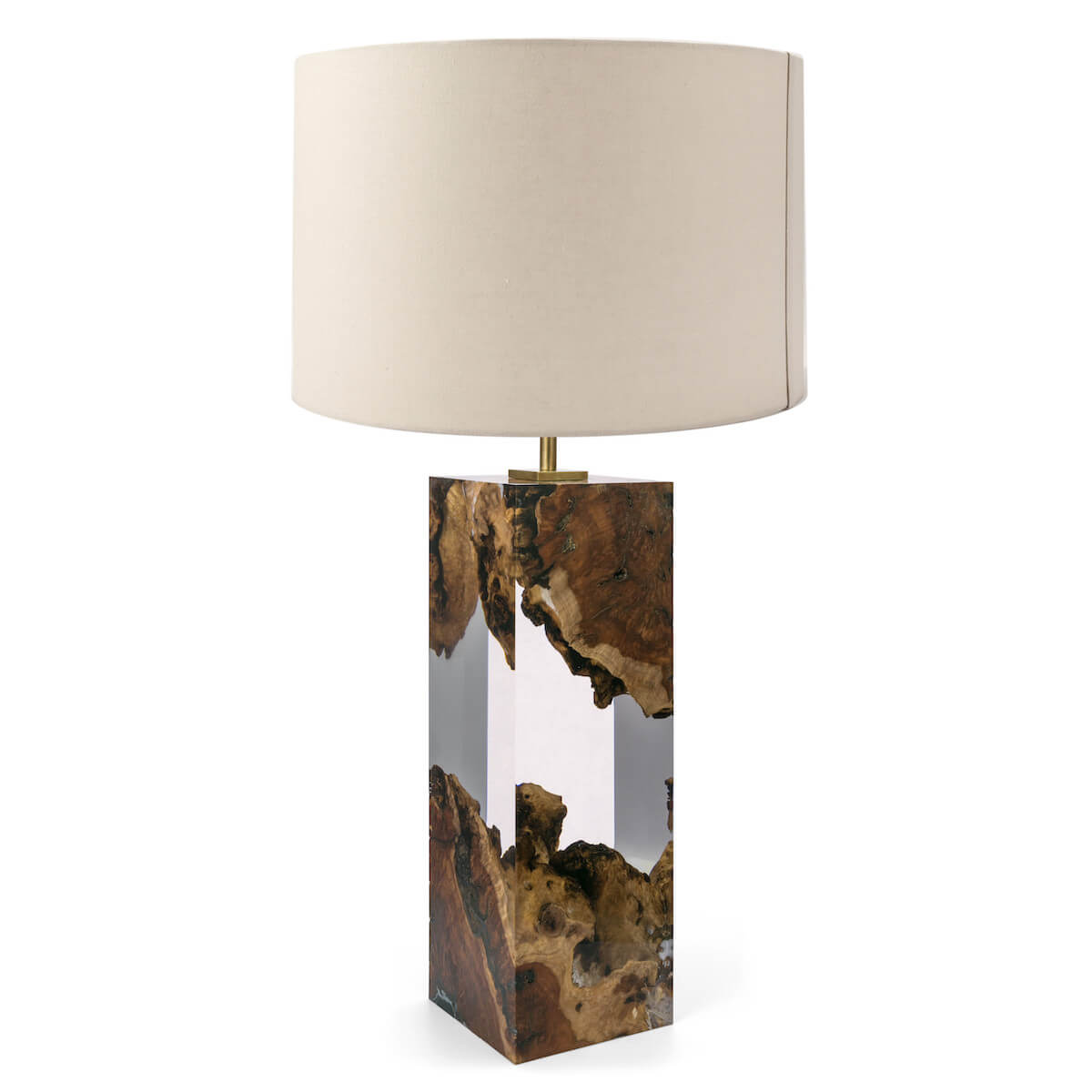 Red Gum and Acrylic Table Lamp I by Iluka London for AUTHOR