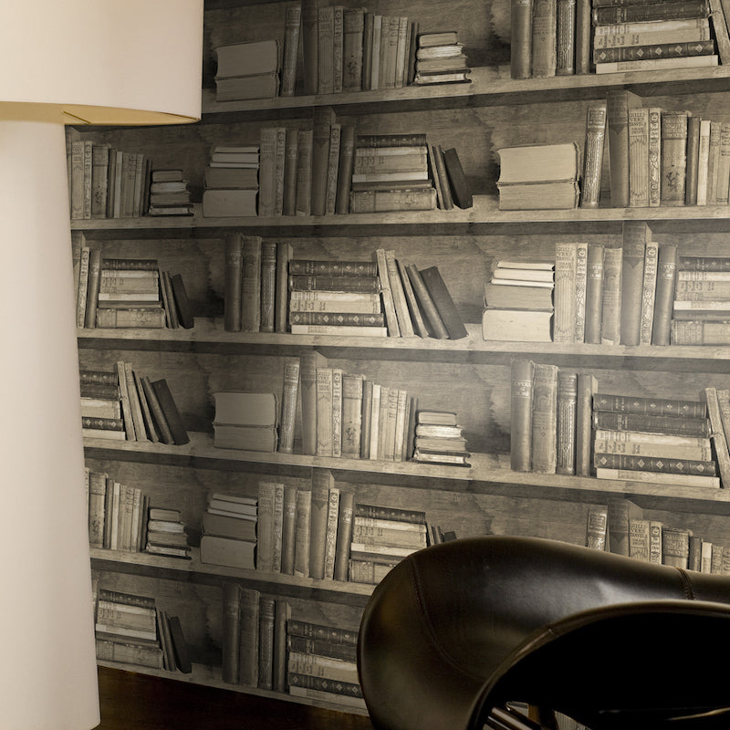 Bookshelf Wallpaper by Mineheart for AUTHOR: home of British-made luxury homeware