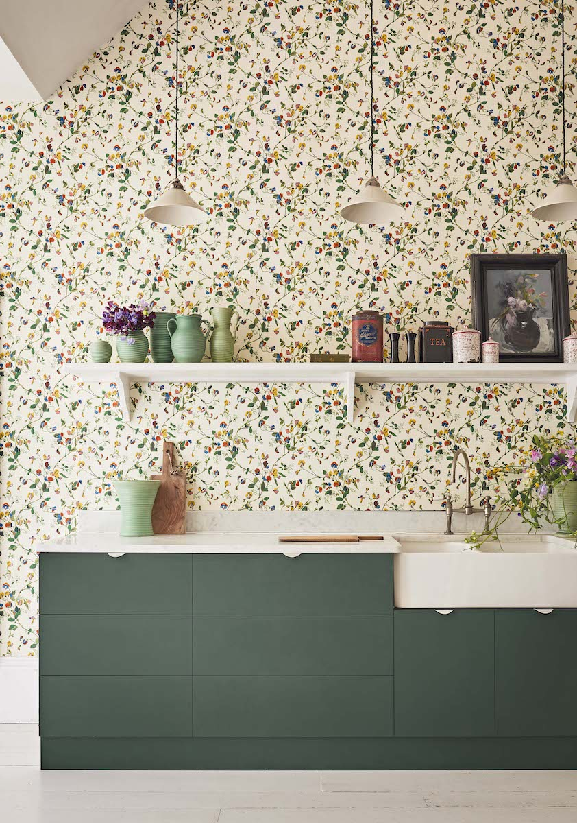 Sweet Pea Wallpaper by Cole & Son for AUTHOR's collections of luxury British-made home accessories