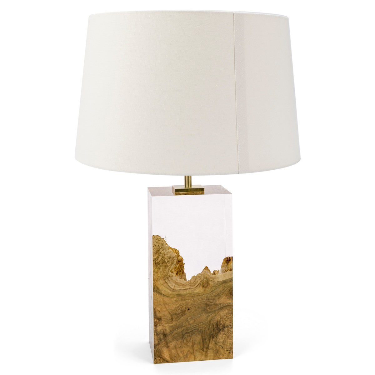 Brown Mallee and Acrylic Table Lamp II by Iluka London for AUTHOR