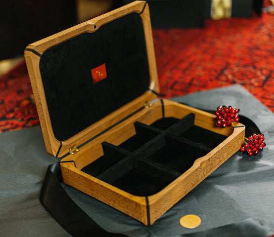 Stunning jewellery box handmade in UK by Hugh Parsons for AUTHOR Interiors