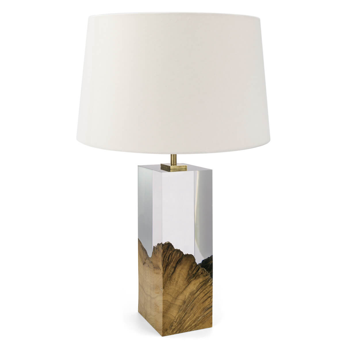 Oak and Acrylic Table Lamp by Iluka London for AUTHOR's collection of British-made luxury homeware