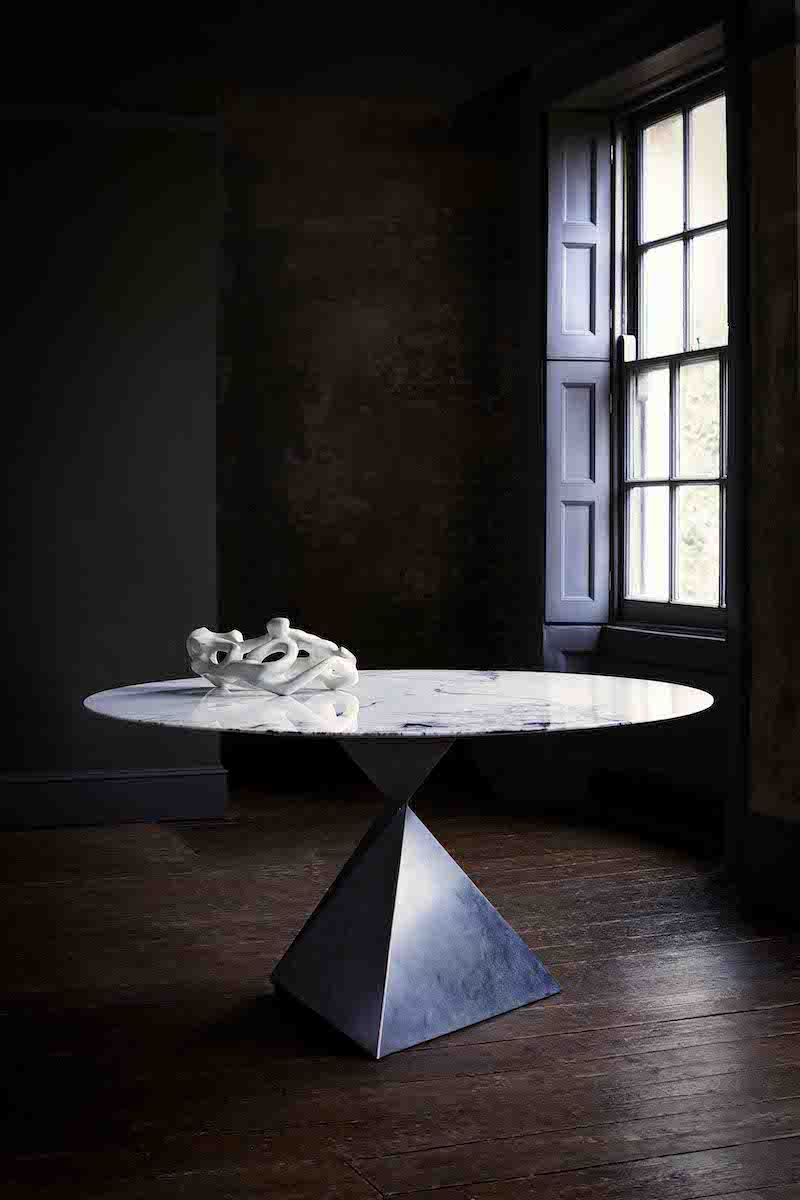 luxury round marble dining table luxury dining table Ava Dining Table Tom Faulkner AUTHOR Interiors