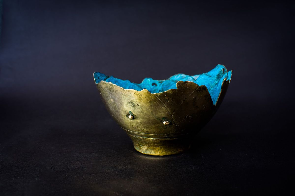 Aqua Glow Liquid Spirit Bronze Vessel by Neil Lemaire for AUTHOR Interiors' collection of British made luxury and unique home accessories