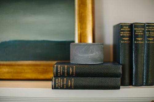 Beautiful lidded ceramic box made in Britain by Myer Halliday for AUTHOR Interiors