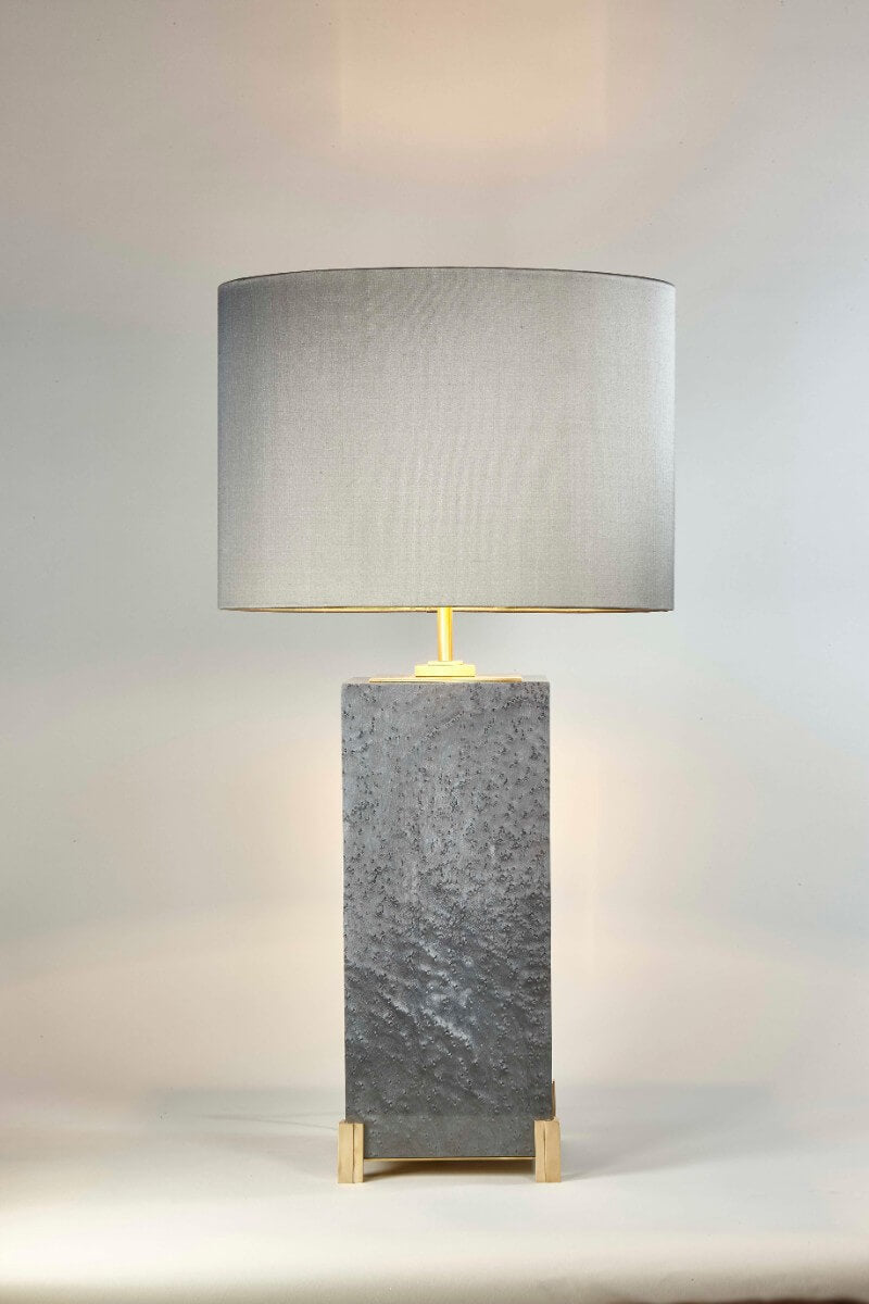 Birds Eye Maple Veneer Table Lamp luxury table lamp luxury desk lamp unique lighting statement lighting brutalist lighting Cocovara London AUTHOR Interiors