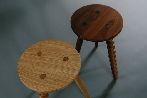 (Perfectly) Imperfect Stool hand crafted by the Galvin Brothers in Britain for AUTHOR