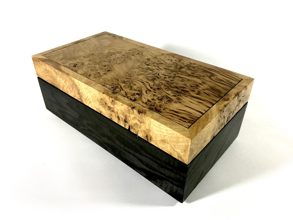 Burr Oak and Ash Trinket Box by Jonathon Vaiksaar for AUTHOR's collections of unique British-made home accessories