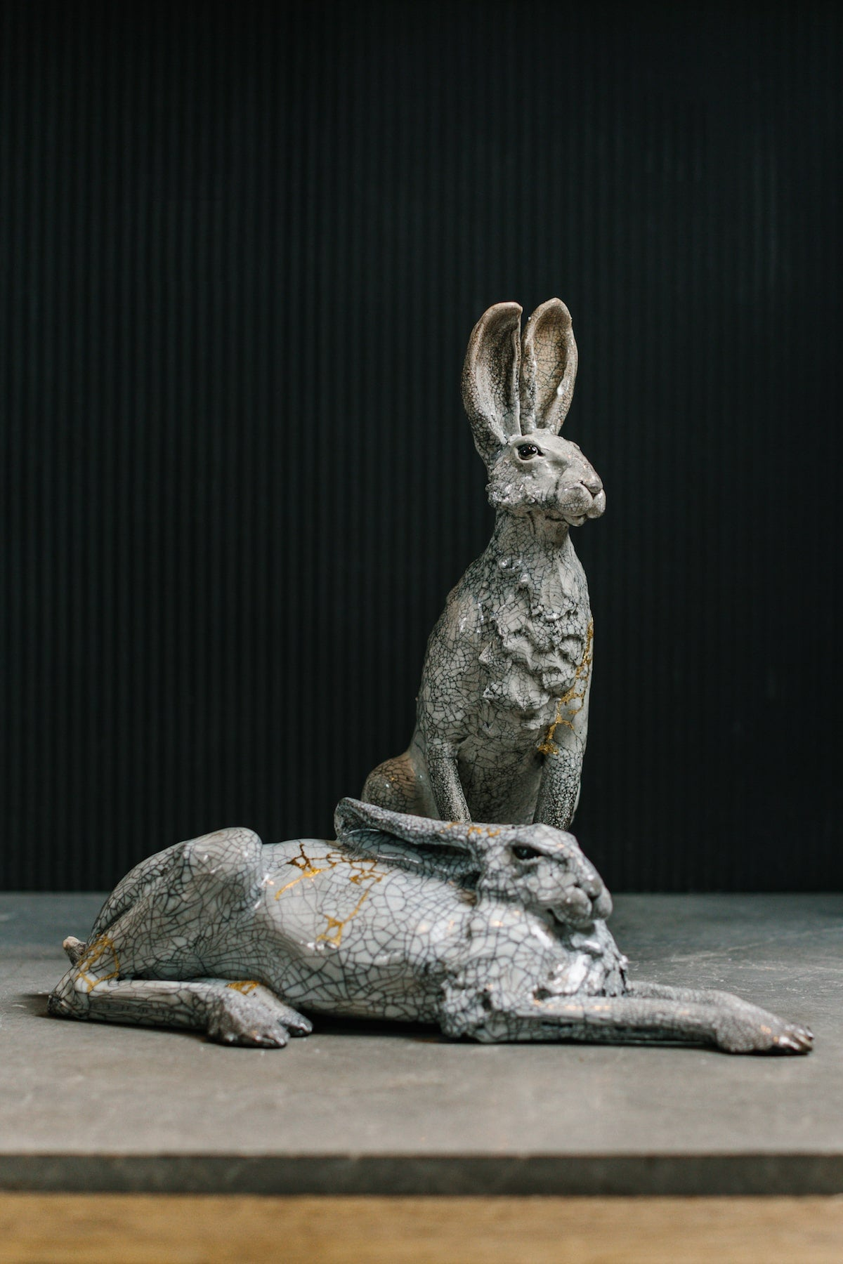 Raku Ceramic Hare, decorative ceramic interior accessory by Richard Ballantyne for AUTHOR