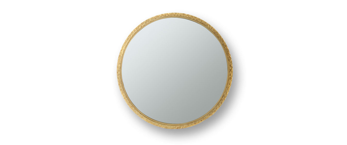 Round Clavius Mirror by Blackbird Bespoke for AUTHOR's unique collections of British-made luxury mirrors