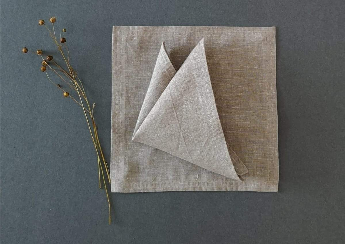 Linen Cocktail Napkins by Mallon Linen for AUTHOR's collections of unique British-made home accessories