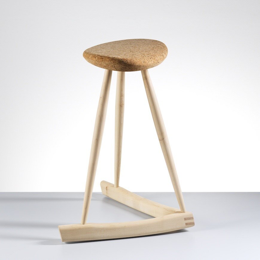 Cork Perch Stool Rocking Stool by Isabelle Moore for AUTHOR Interiors