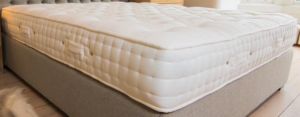 The Monarch Mattress handcrafted by Glencraft for AUTHOR's collections of British-made luxury furniture