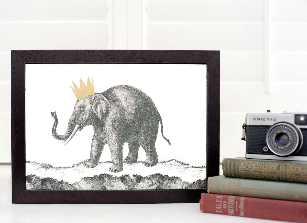 Elephant Print by Mountain & Molehill for AUTHOR's unique collections of British-made home accessories