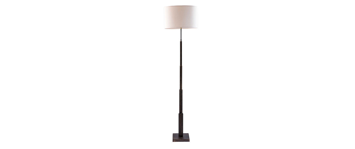 Empire State Floor Lamp handmade by Blackbird Bespoke for AUTHOR's collection of luxury British-made home accessories