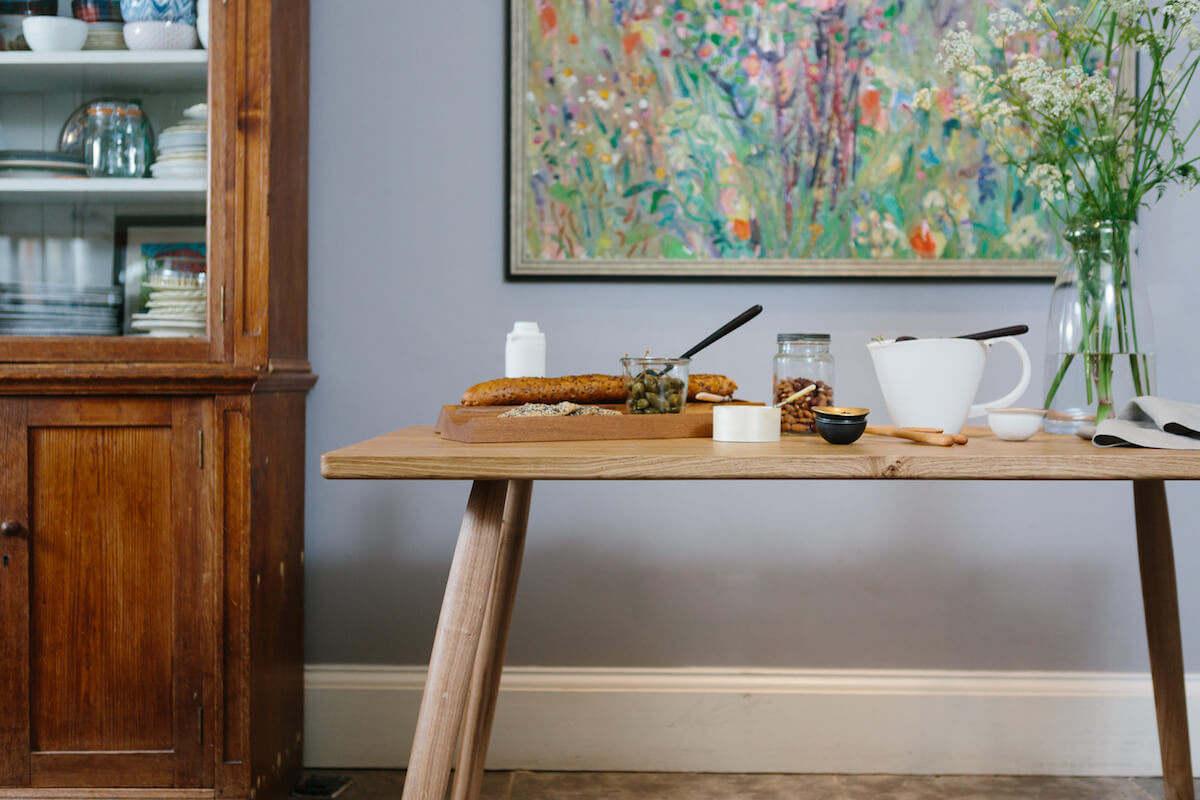 Pippy Oak Dining Table by the Galvin Brothers for AUTHOR's collection of British-made luxury furniture