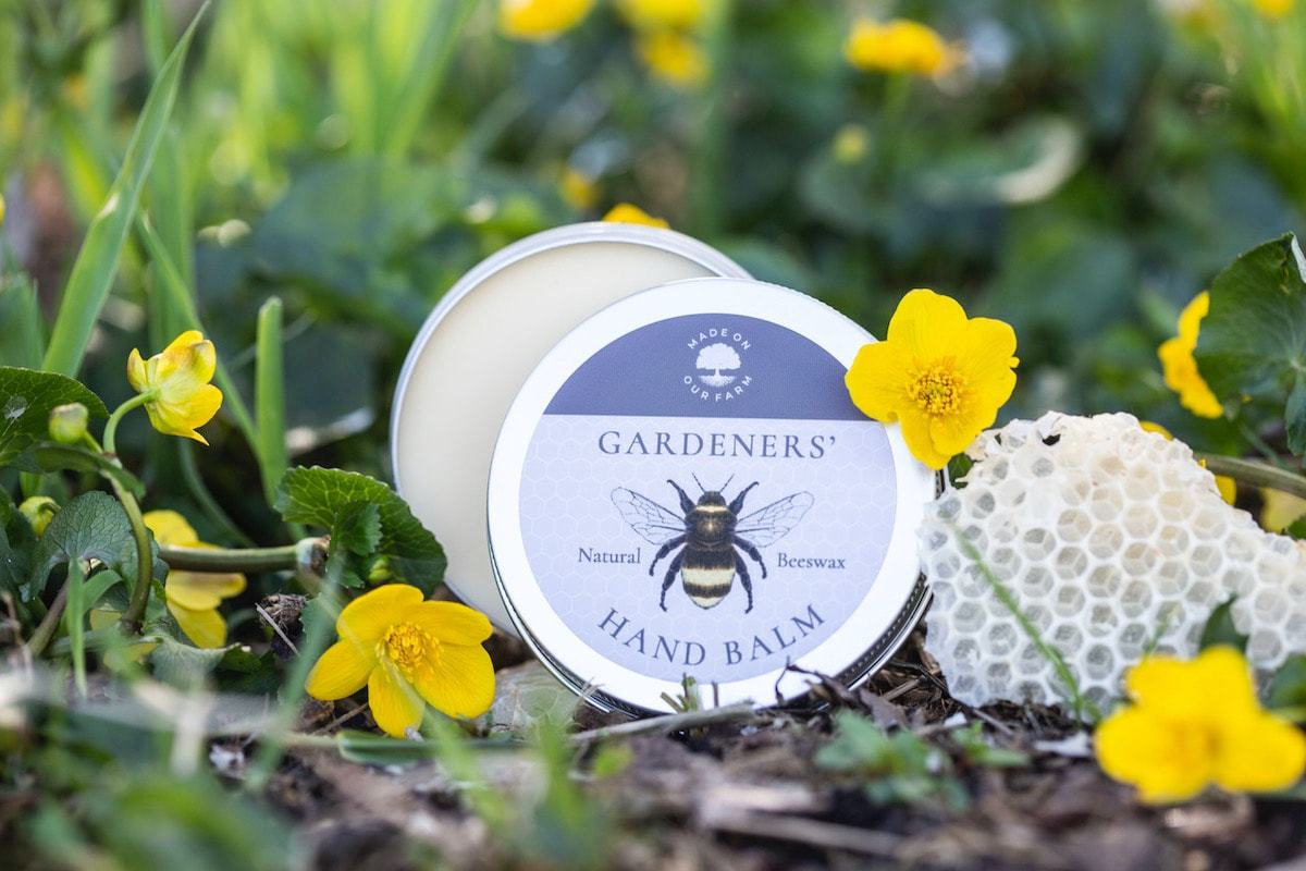 Gardeners' Beeswax Hand Balm by Made On Our Farm for AUTHOR's unique collections of British-made home accessories