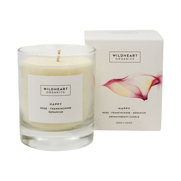 Aromatherapy Plant Wax Candle by Wildheart Organics for AUTHOR'S collections of British-made, luxury home accessories