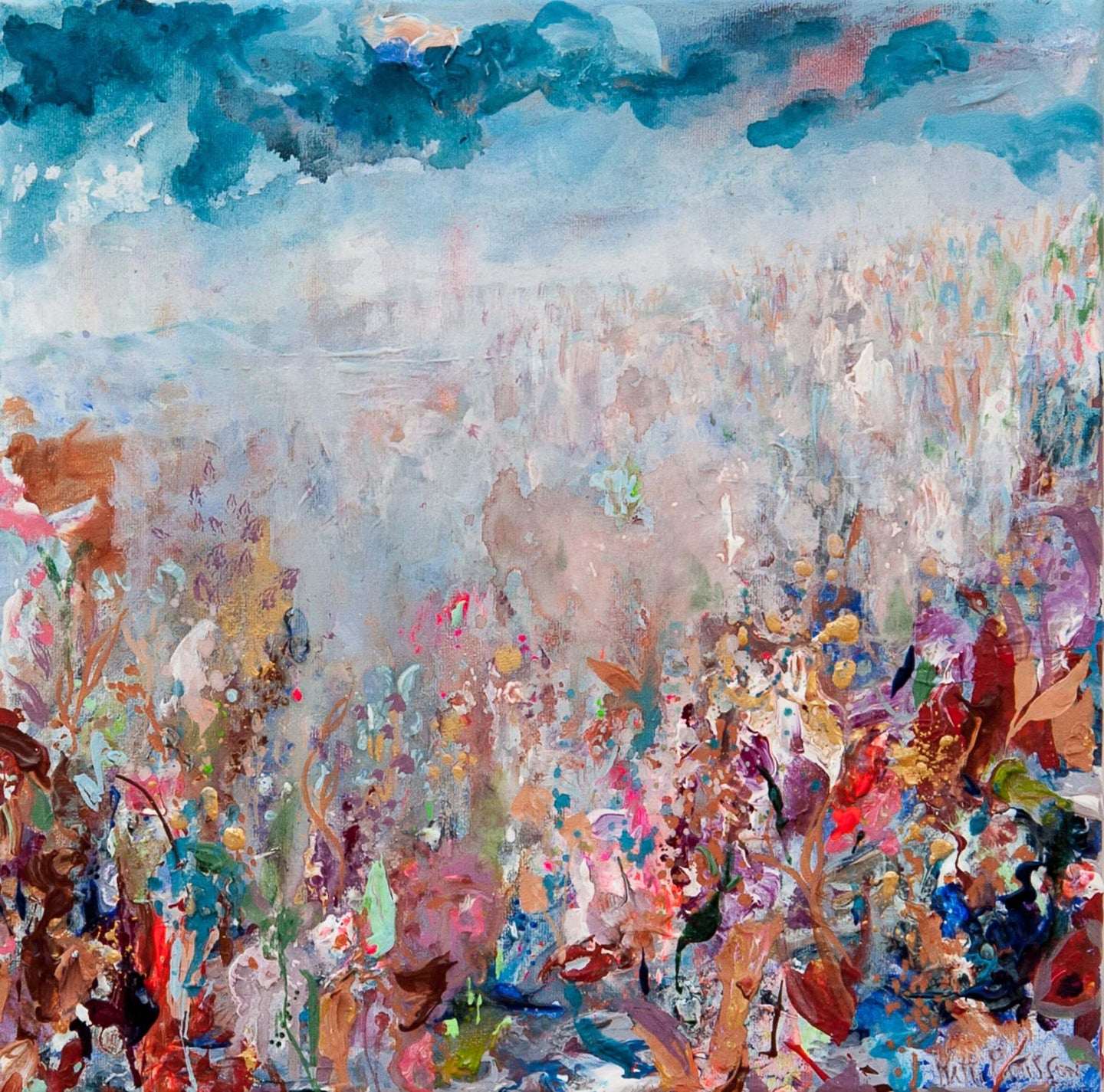 Halcyon Haze hand finished print by Hatti Pattisson for AUTHOR's collection of British-made luxury art