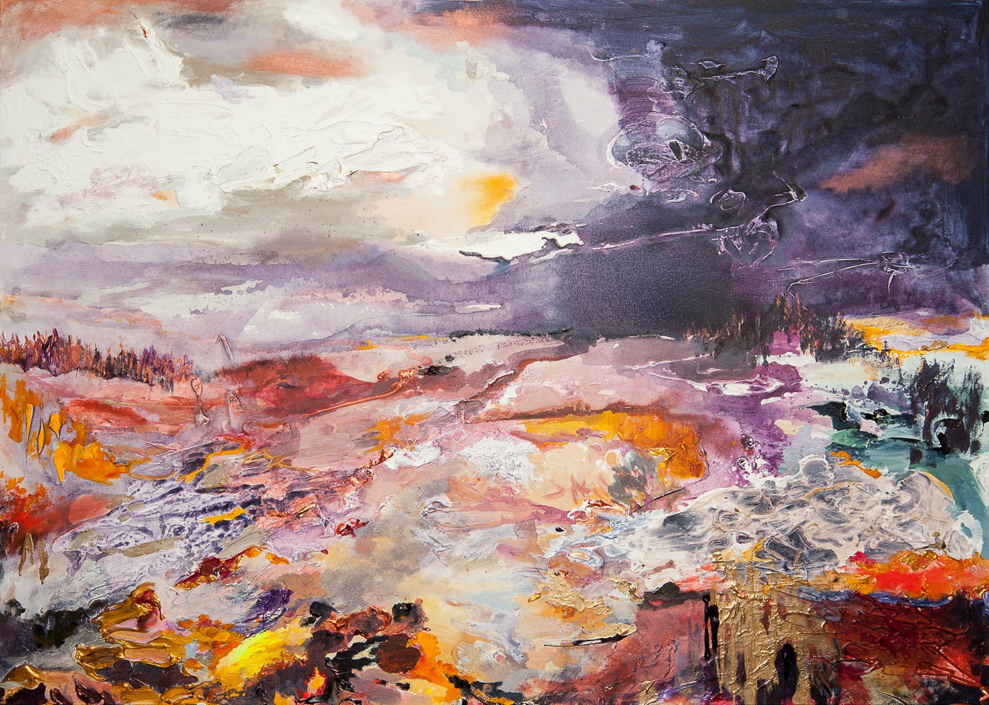 Summer's Retreat hand finished print by Hatti Pattisson for AUTHOR's collection of British-made luxury art