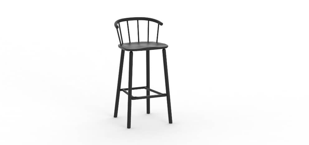 Hardy Bar Stool by David Irwin at Another Country for AUTHOR: home of British-made luxury and unique furniture