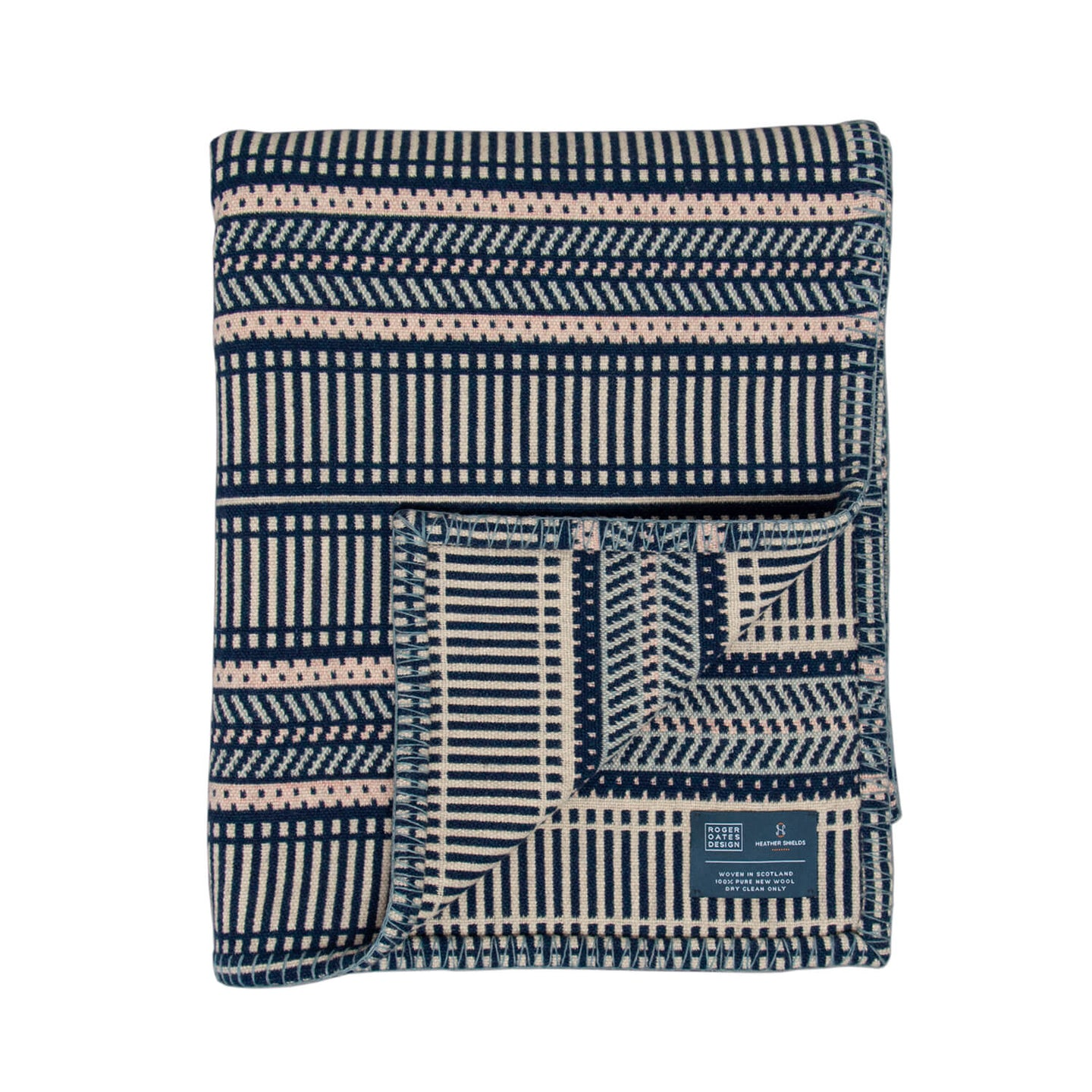 Mariner Throw, 100% wool throw by Heather Shields for Roger Oates for AUTHOR
