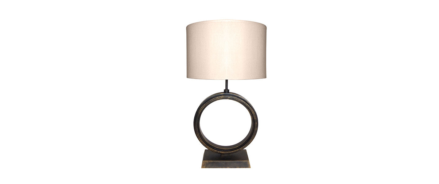 Ra Table Lamp handmade by Blackbird Bespoke for AUTHOR's luxury collection of British-made lighting
