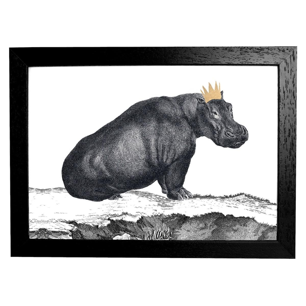 Hippo Print by Mountain & Molehill for AUTHOR's unique collections of British-made home accessories