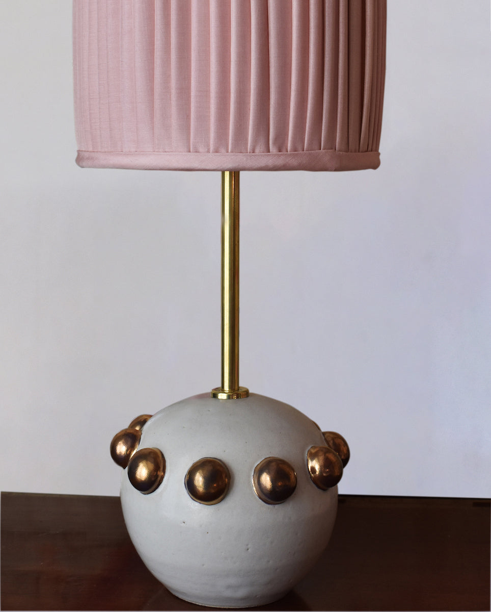 Zoe Ceramic Table Lamp Base by Kinkatou for AUTHOR's collections of British-made luxury home accessories