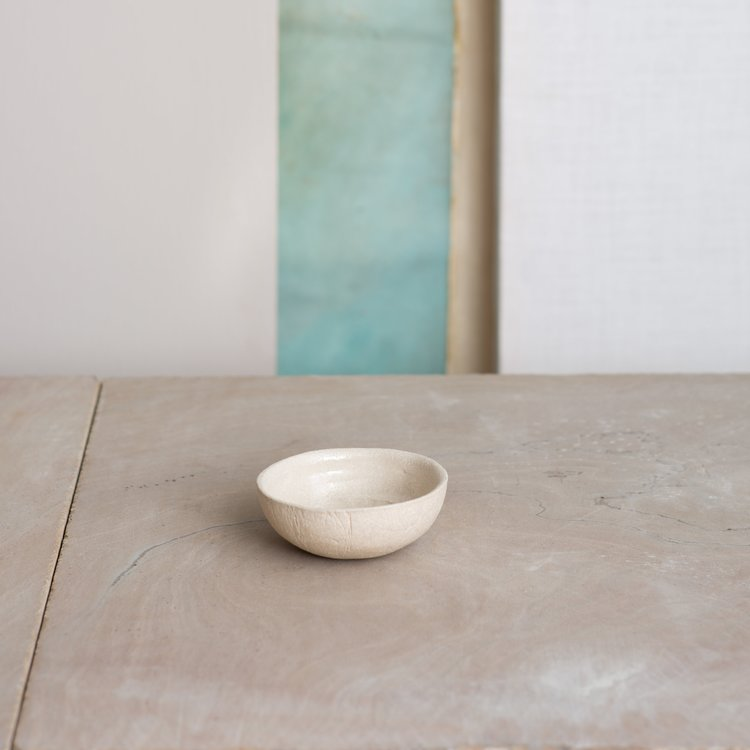 Kana White Sand Dip Bowl by KANA London for AUTHOR's collections of British-made unique home accessories