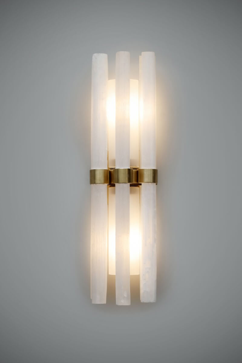 Katz Wall Light - rock crystal wall light by Cocovara Lighting for AUTHOR's collection of British-made luxury homeware