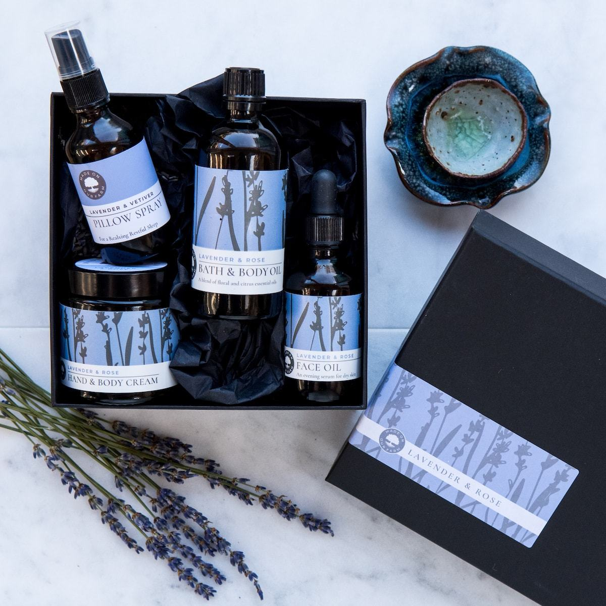 Lavender Gift Set by Made On Our Farm for AUTHOR's unique collections of British-made gifts