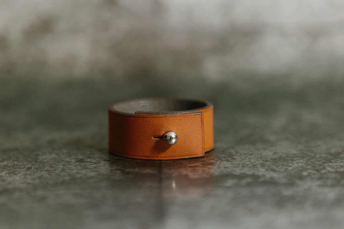 Leather Napkin Ring Holder Handmade In England By Lanyap For Author
