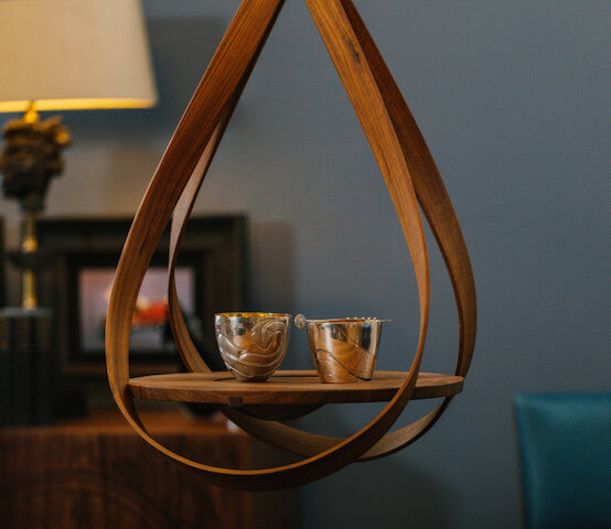 Loop steam-bent plant hanger made in UK by Tom Trimmins for AUTHOR Interiors