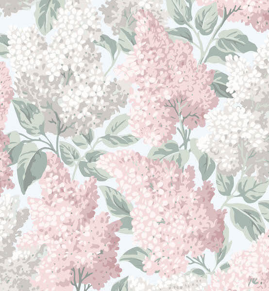 Luxurious lilac Wallpaper made in Britain by Cole & Son for AUTHOR Interiors