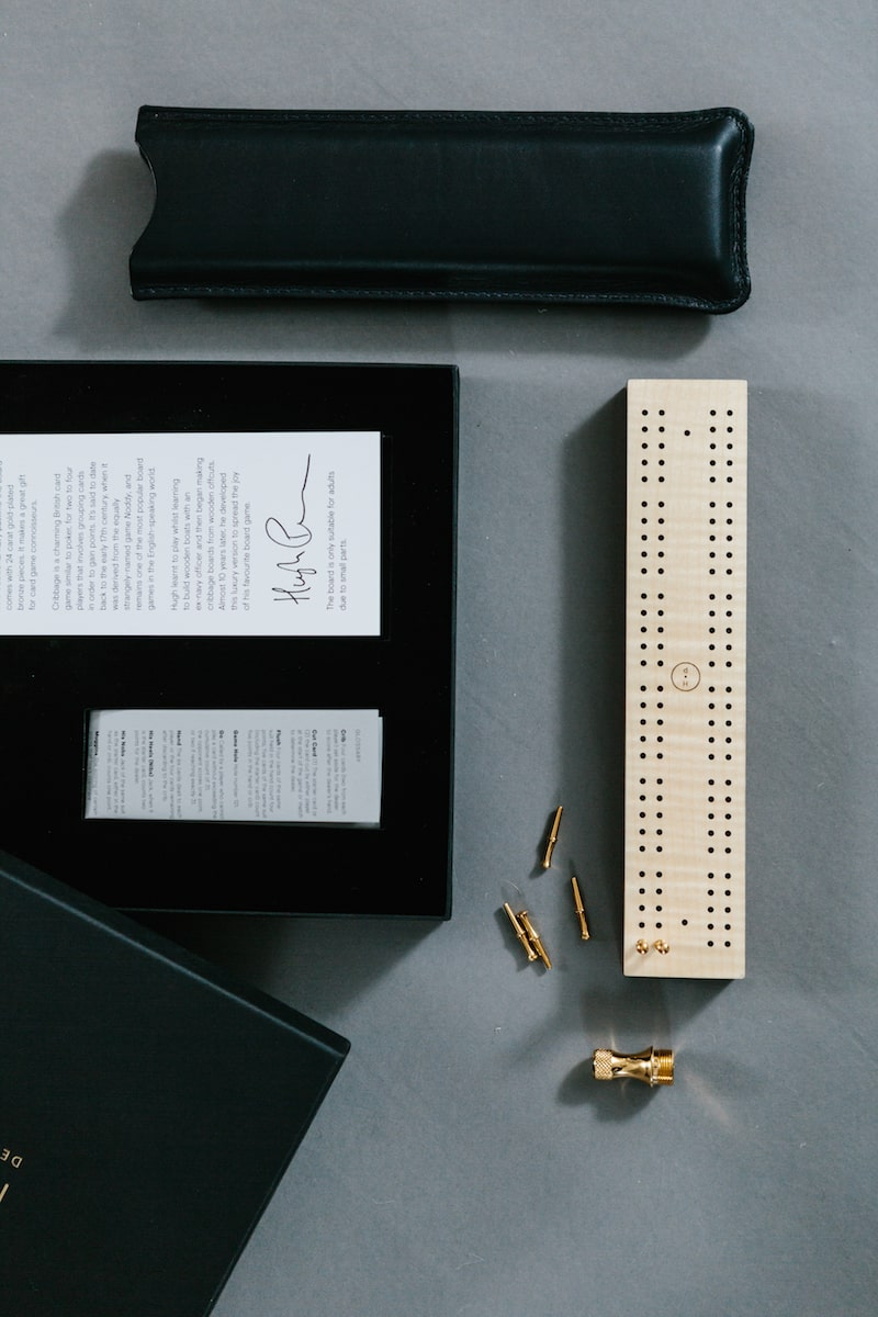 Cribbage Board hand crafted by Hugh Parsons for AUTHOR: the home of British-made luxury homeware