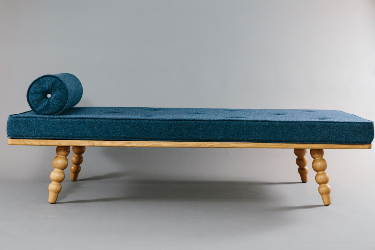 (Completely) Imperfect Day Bed hand crafted by the Galvin Brothers in Britain for AUTHOR