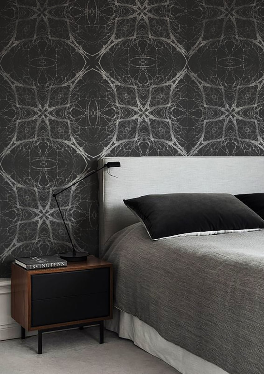 Midnight Limbs abstract wallpaper made in Britain by Iona Crawford for AUTHOR Interiors