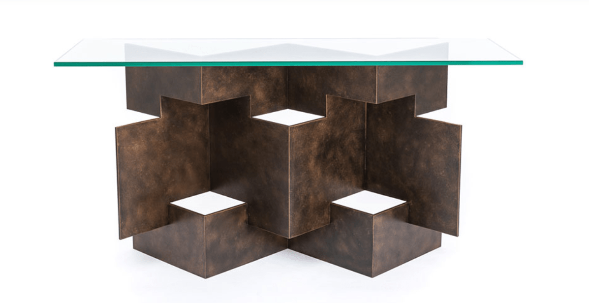 Origami Console Table handmade by Blackbird Bespoke for AUTHOR's collections of luxury British-made furniture