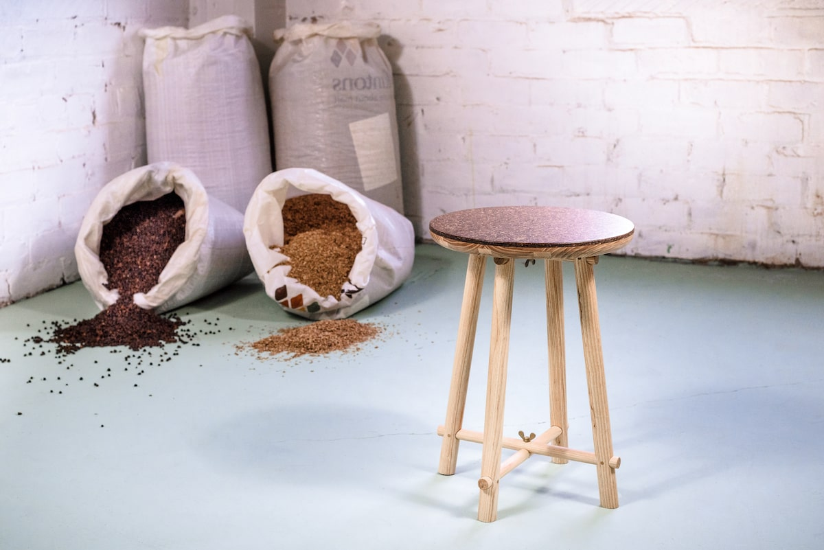 Peg Stool made from Beer and Barley brewery waste by Draff for AUTHOR Interiors