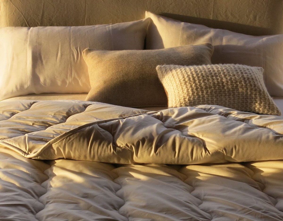 Firm & Full Wool Pillow by AVA INNES for AUTHOR's collection of British-made luxury bedding and pillows