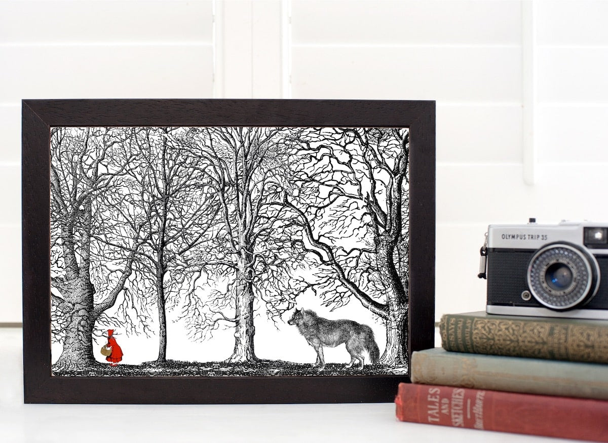 Red Riding Hood Fairytale Print