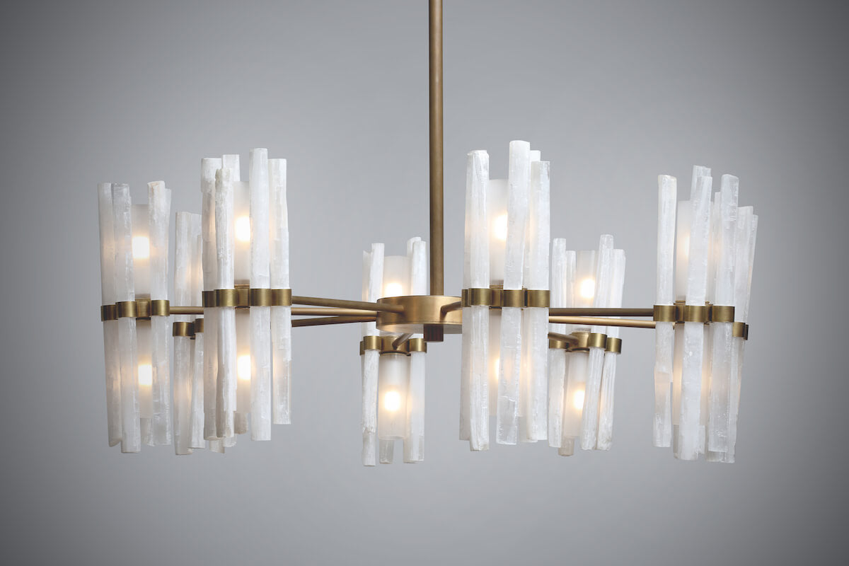 Rock Crystal Flute Chandelier by Cocovara Lighting for AUTHOR
