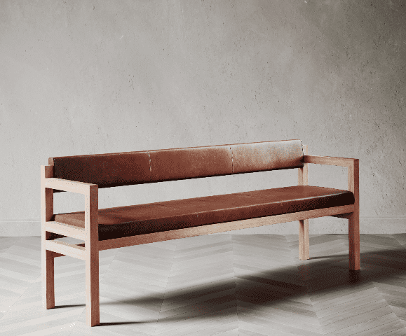 Govan Bench made by David Watson for AUTHOR's collection of British-made luxury and unique furniture