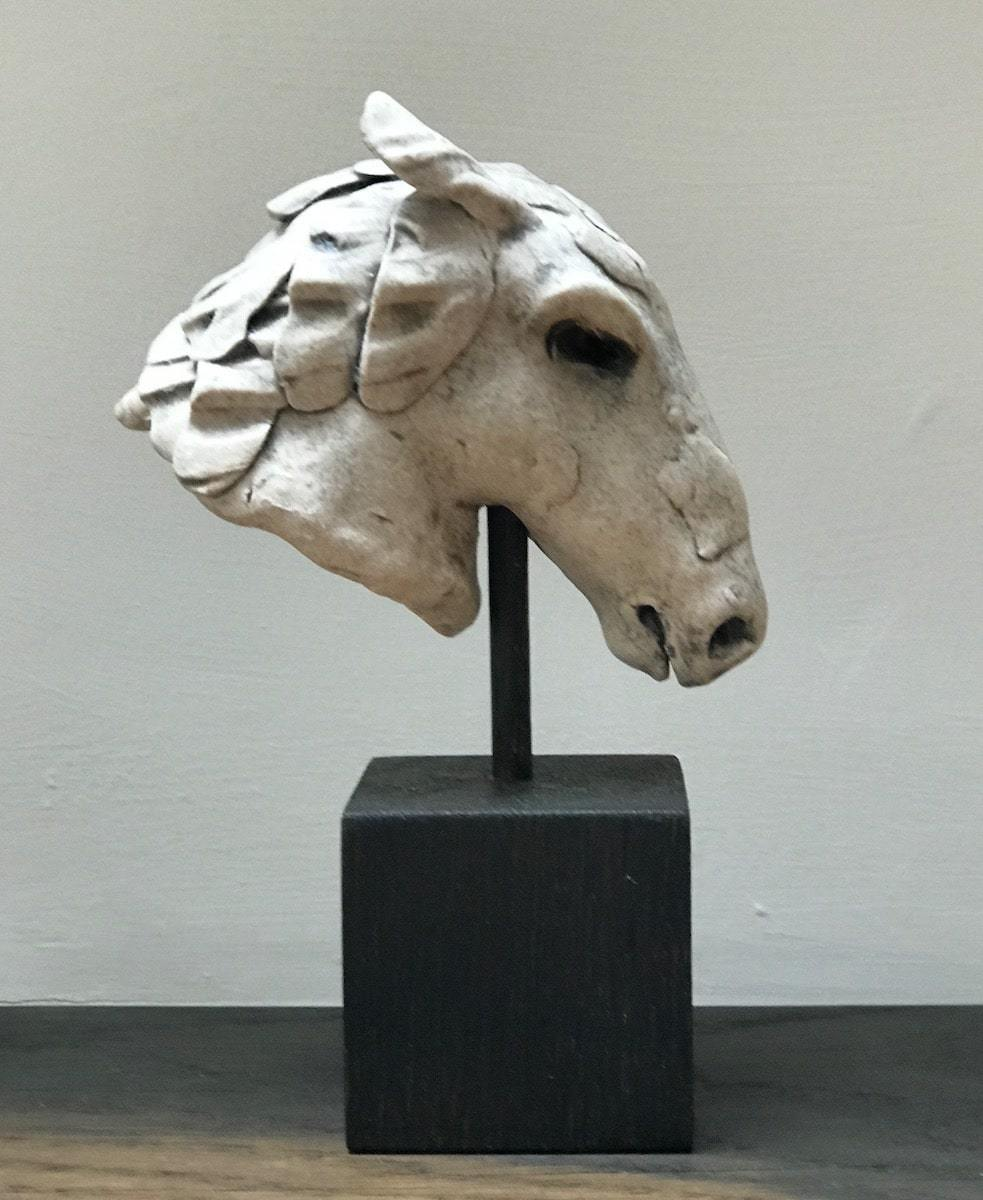 White Horse Head Maquette by Jennie McCall for AUTHOR's luxury collection of British-made home accessories