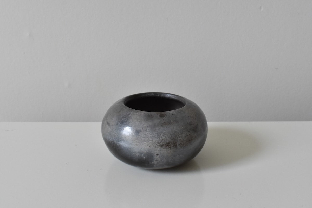 Smoke Fired Calm Sea Orb by Wayne Galloway Ceramics for AUTHOR's collection of unique British-made home decor